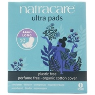 Natracare - Organic Cotton Natural Feminine Ultra Pads Long with Wings - 10 Pad(s)