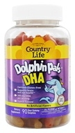 Country Life - Dolphin Pals DHA Gummies For Kids 100 mg. - 90 Sour Gummies