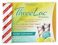 Global Health Trax (GHT) - ThreeLac Probiotic Natural Lemon Flavor - 60 Packet(s)