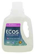 Earth Friendly - ECOS Hypoallergenic Laundry Detergent with Built-In Fabric Softeners Lavender - 100 oz.