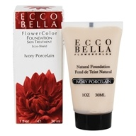 Ecco Bella - FlowerColor Natural Liquid Foundation Ivory Porcelain 15 SPF - 1 oz.