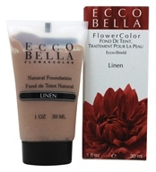 Ecco Bella - FlowerColor Natural Liquid Foundation Linen 15 SPF - 1 oz.