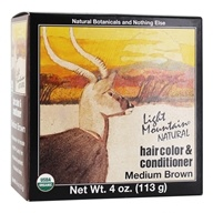 Light Mountain Natural - Hair Color & Conditioner Kit Medium Brown - 4 oz.