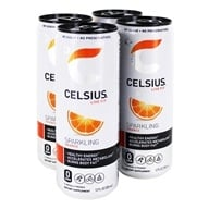 Celsius - Sparkling Orange  - 4 x 12 oz.(355ml) Cans