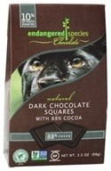 Endangered Species - Dark Chocolate Squares Bite Size Bars 88% Cocoa - 10 Piece(s)