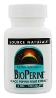 Source Naturals - Bioperine Black Pepper Fruit Extract 10 mg. - 120 Tablets