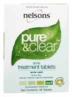 Nelsons - Pure & Clear Acne Treament Tablets Sulfur 30 C - 48 Tablets
