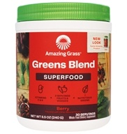 Amazing Grass - Green SuperFood Drink Powder 30 Servings Berry Flavor - 8.5 oz.