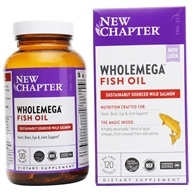 New Chapter - WholeMega 100% Wild Alaskan Salmon Extra Virgin Omega-Rich Fish Oil 1000 mg. - 120 Softgels LUCKY PRICE