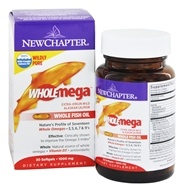 New Chapter - Wholemega 100% Wild Alaskan Salmon Extra Virgin Omega-Rich Fish Oil 1000 mg. - 30 Softgels LUCKY PRICE