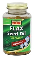 Health From The Sun - Flax Seed Oil From Organic Flax Seeds - 90 Vegetarian Softgels