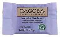 Dagoba Organic Chocolate - Tasting Squares Dark Chocolate Lavender Blueberry 59% Cacao - 0.32 oz.
