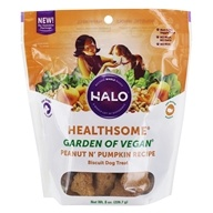 Halo Purely for Pets - Liv-A-Littles Healthsome Dog Biscuits Vegetarian Gluten-Free Peanut 'N Pumpkin - 8 oz.