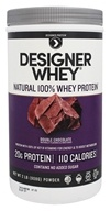 Designer Protein - Designer Whey Natural 100% Whey-Based Protein Powder Double Chocolate - 2 lbs.